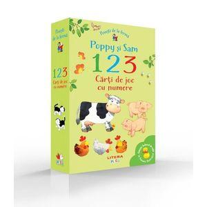 Povesti de la ferma. Poppy si Sam. 1, 2, 3. Carti de joc cu numere imagine