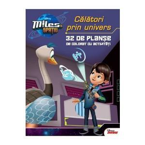 Miles in spatiu: Calatori prin univers - 32 de planse de colorat cu activitati imagine
